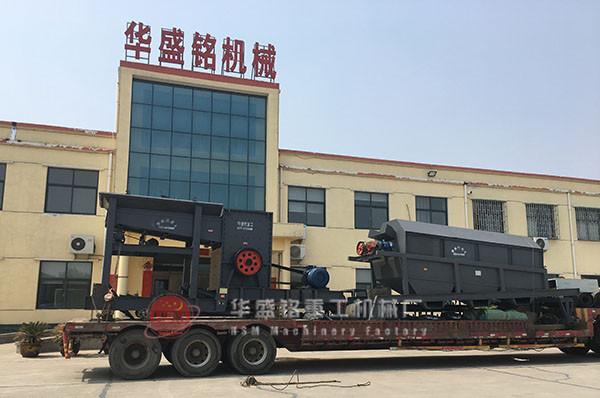 每小时处理200吨滚筒洗砂机成功